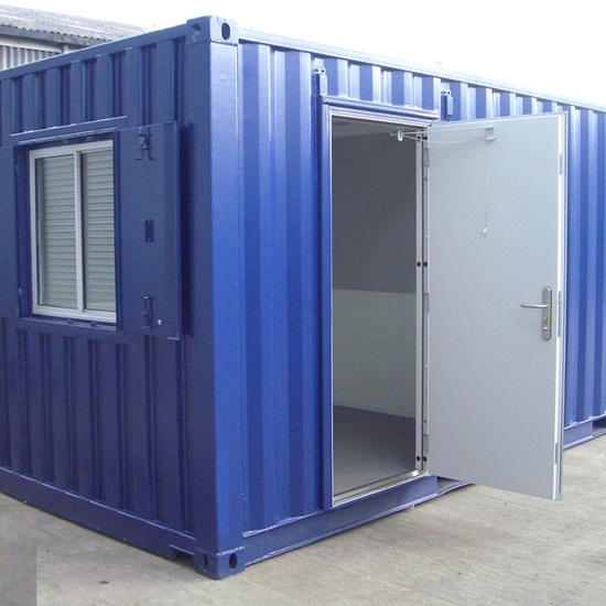 20FT 50/50 Combined Office and Secure Store 20FT Office