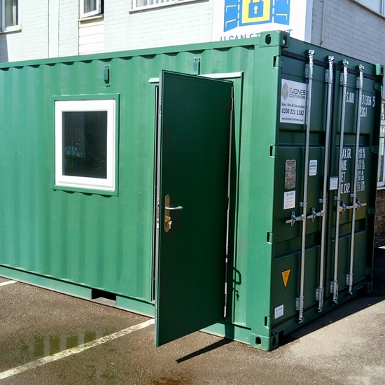 20ft Converted Open Plan Office Shipping Container Conversion