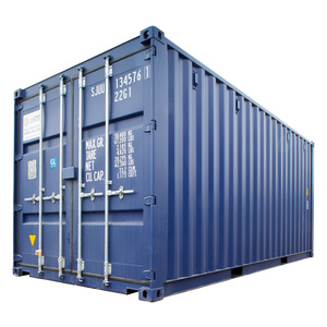 Single Trip New 20ft ISO Shipping Container - Blue RAL5013